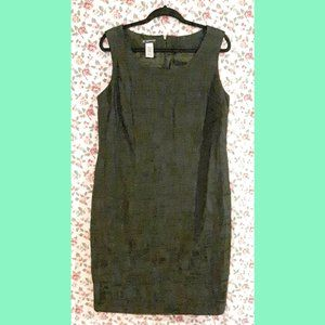 INC Black Textured Dress Career Formal Plus 18W